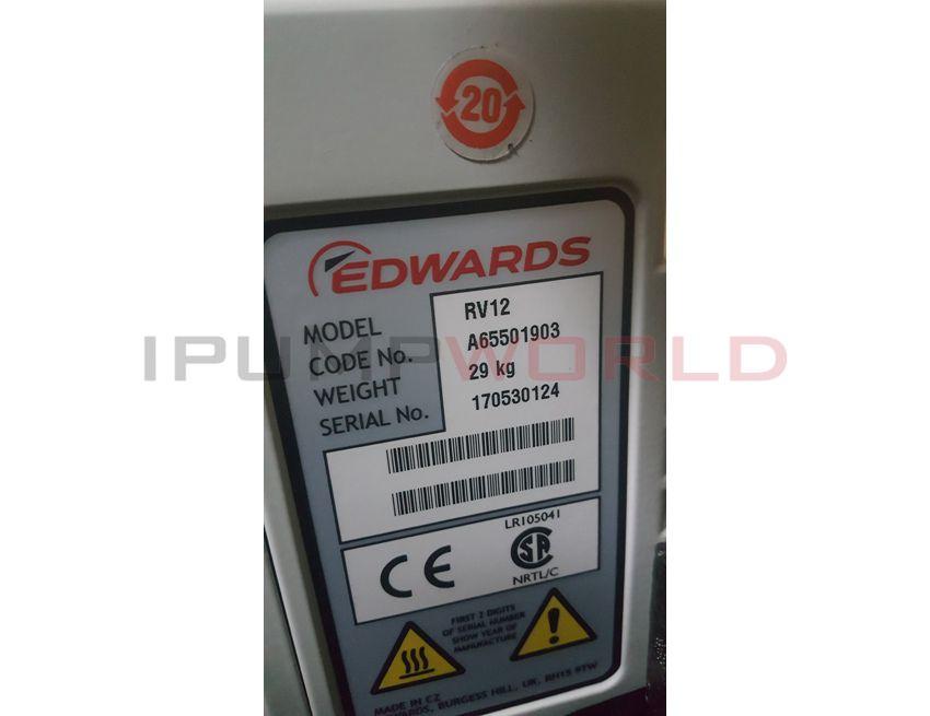 New Edwards RV12 Vacuum Pump, A65501903,1 Phase 50/60HZ 110/240V
