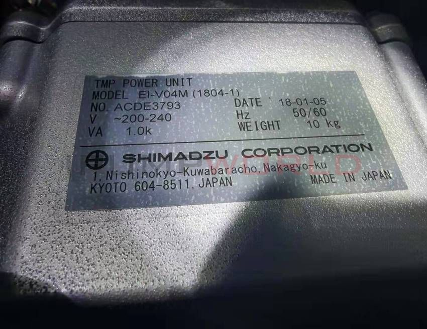 Used Shimadzu TMP-V1804LM Turbo Molecular Pump, Working