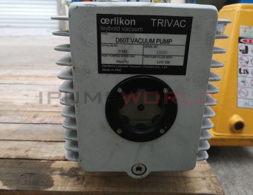 Used Oerlikon Leybold TRIVAC D60T VACUUM PUMP, 31282