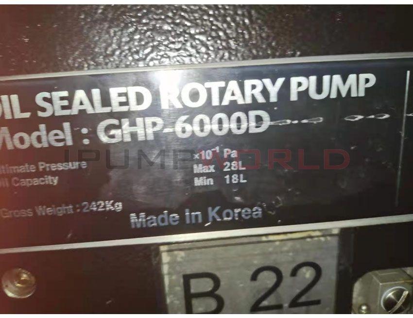 Used KODIVAC GHP-6000D OIL SEALED ROTARY PUMP