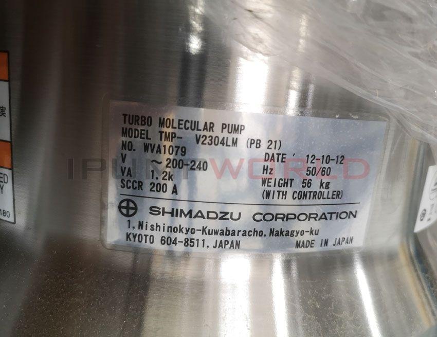 Used Shimadzu TMP-V2304LM(PB 21) TURBO MOLECULAR PUMP Working