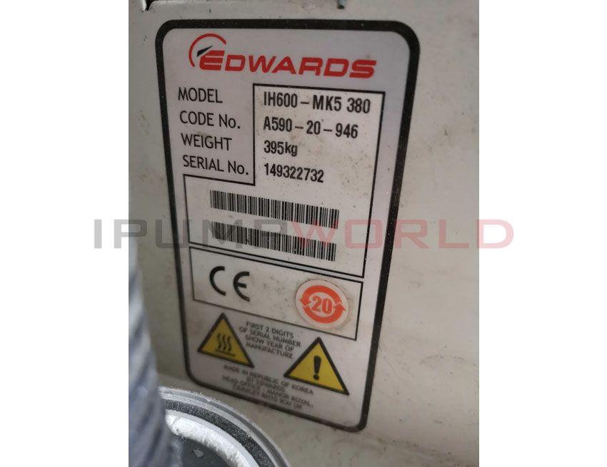 Used Edwards iH600 MK5 380V Dry Vacuum Pump Working