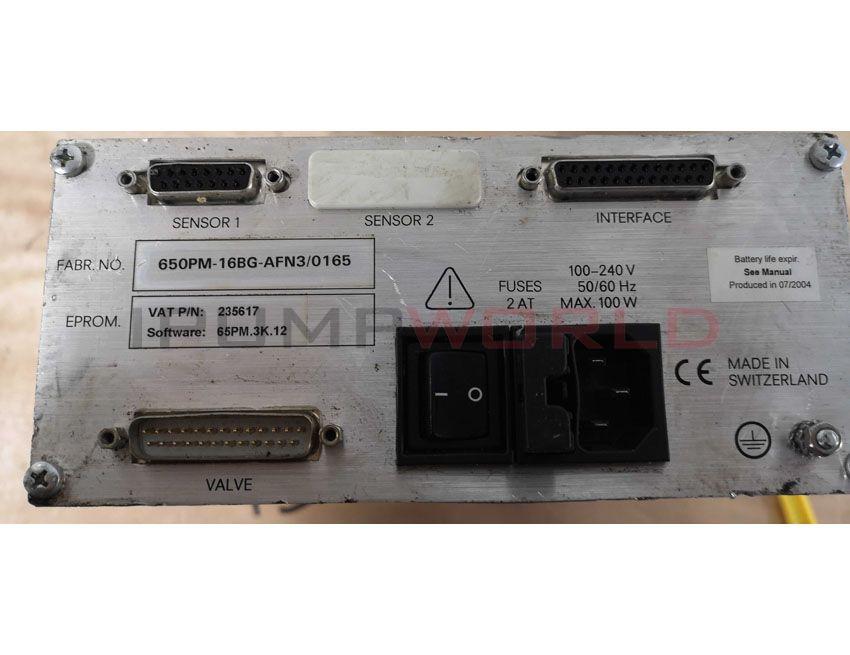 Used VAT PM-7 Adaptive Pressure Vacuum Pendulum Valve Controller