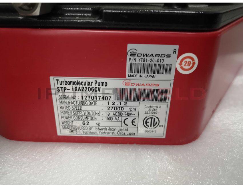 Used Edwards STP-iXA2206CV Turbomolecular Pump Working