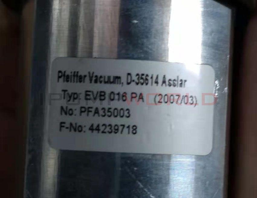 Used Pfeiffer EVB 016 PA Pneumatic Angle Valve