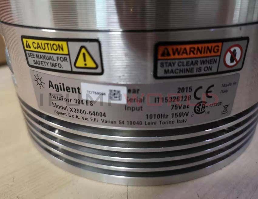 Used Agilent TwisTorr 304 FS Turbo Pump Working